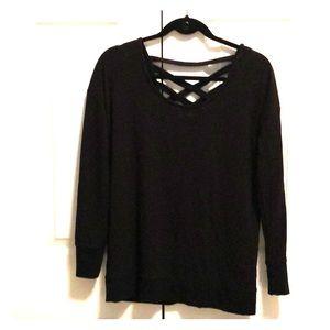 Black Criss Cross Sweater